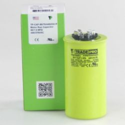 TRADEPRO® - TP-CAP-80/7.5/440USA-R  80/7.5 MFD 440/370V Round Capacitor (Made in USA)