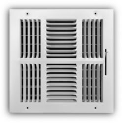 """Truaire - 100 Series 10"""" x 10"""" 4 Way Wall/Ceiling Register"""