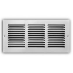 "Truaire - 12""X06"" White Return Air Grille"