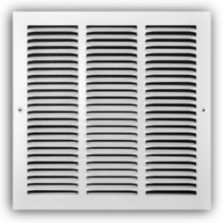 "Truaire - 170 Series 12"" x 12"" White Return Air Grille"
