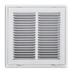 "Truaire - 190 Series 12"" x 12"" White Return Air Filter Grille With Hinged Face"