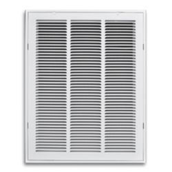 "Truaire - 12""X24"" White Return Air Filter Grille With Hinged Face"