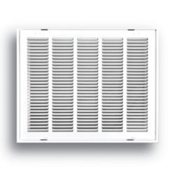 """Truaire - 24"""" x 14"""" White Return Air Filter Grille With Removable Face"""