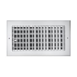 "Truaire - 08""X04"" White Aluminum Adjustable 1 Way Wall / Ceiling Register"