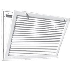 "Truaire - 24"" x 30"" White Aluminum Fixed Bar Return Air Filter Grille"