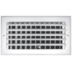 """Truaire - 06""""X06"""" 1 Way White Aluminum Adjustable Curved Blade Wall / Ceiling Register"""