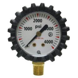Uniweld - G56D  Welding Gauge Bottom Mount for use with Oxygen Regulators. 0 - 4000 PSI.