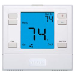 Vive - TP-N-751 Non-Programmable Large Display Thermostat with Humidify and De-Humidify 3H/2C