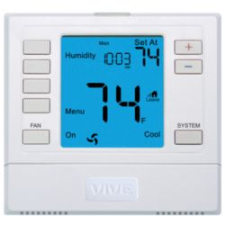 VIVE - TRADEPRO® - TP-S-755H 5+1+1 or Non-Programmable Universal Thermostat w/ Humidify & De-Humidify 3H/2C