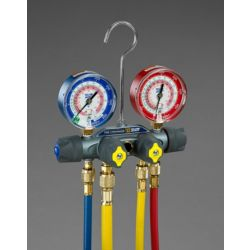 Yellow Jacket - 49967 - TITAN™ 4-Valve Manifiold with 60? PLUS II™ RYB and Gauges